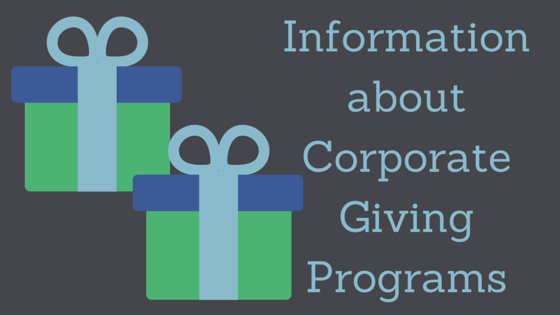 Information About Corporate Giving Programs