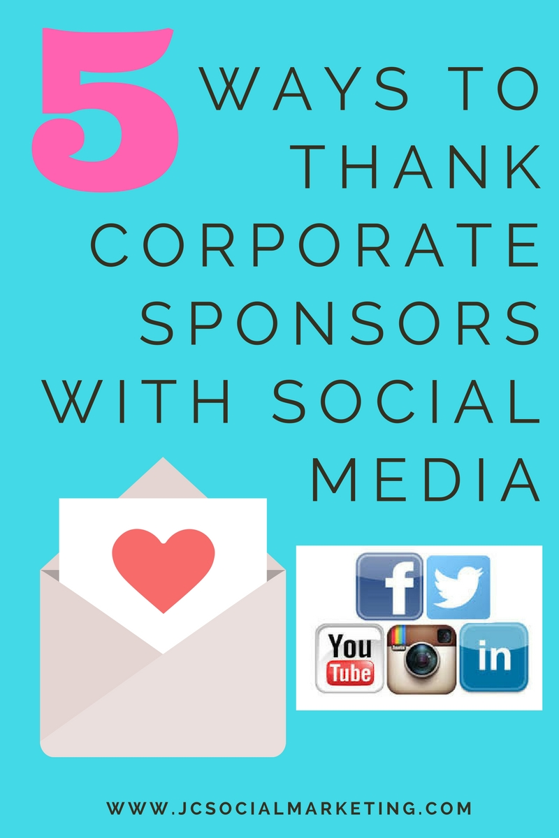 5 Ways to Thank Corporate Sponsors with Social Media