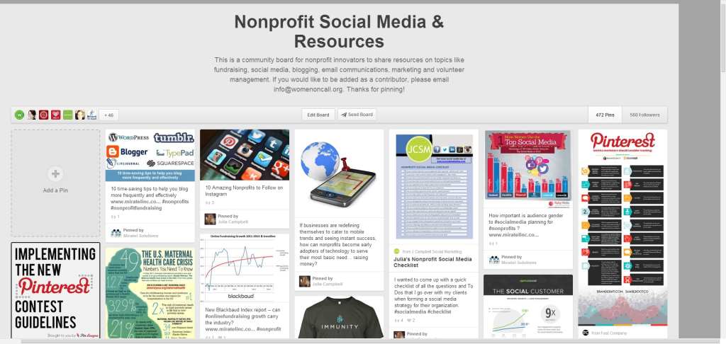 Nonprofit Social Media   Resources on Pinterest