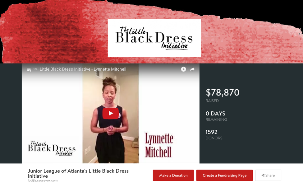 Junior League of Atlanta used CauseVox to build and launch their peer-to-peer campaign